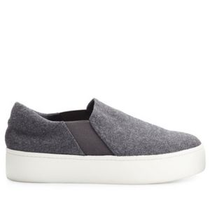 VINCE Warren Flannel Platform Sneakers in Gray